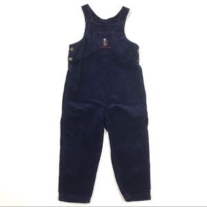 Polo bear corduroy overalls jumper play suit pants